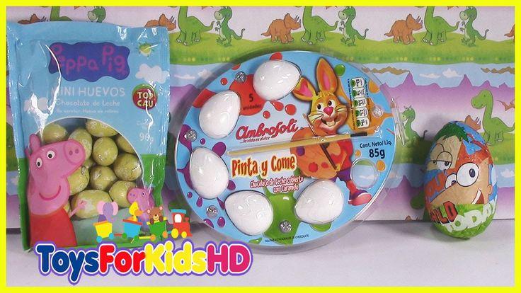 Huevos de Pascua para Coloriar - Easter Bunny eggs- Pinta tus propios hu...