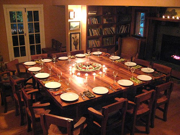 Best 25 square dinning room table ideas on pinterest Huge dining room table