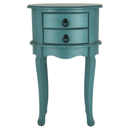 £76.95 Featuring two handy drawers, this side table in turquoise is sure to liven up any scheme – from country cottage to city apartment.