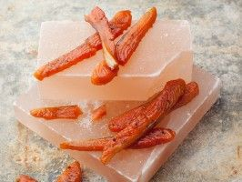 Alaska Salmon Candy When cured overnight, basted with a smoky-sweet sauce and then baked in the oven, strips of salmon (preferably Alaskan king) transform into a unique jerky.Cooking Channel