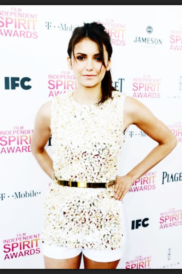 Congrats to Nina Dobrev for winning an indie spirit award with her cast mates from The Perks of Being a Wallflower!! Extremely talented!! :D