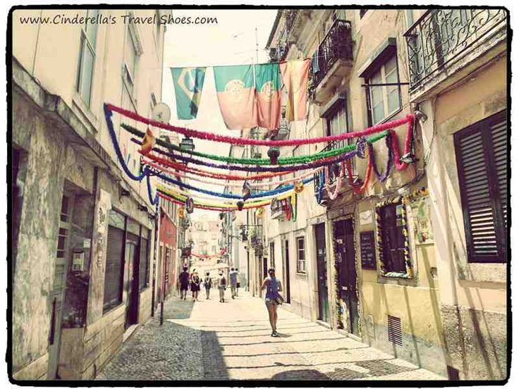 Colorful streets of Lisbon during the Festival of Sardines