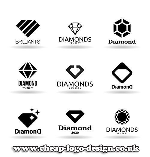 diamond logo design ideas for jewellery business www.cheap-logo-design.co.uk #diamondlogo #jewellerylogodesign #diamonds