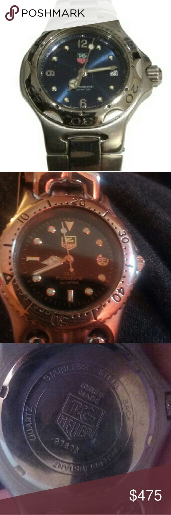 Tag Heuer professional 1500 women's watch Tag Heuer 1500 Professional  Women's watch,  Blue Diver, Swiss Quartz movement, has a few scratches but nothing other than normal wear. Tag Heuer Accessories Watches