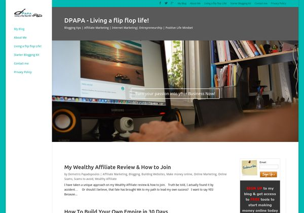 My Wealthy Affiliate Review & How to Join  http://d-papa.com/wealthy-affiliate-review/