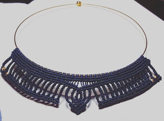 Check out this item in my Etsy shop https://www.etsy.com/listing/471970170/macrame-necklace