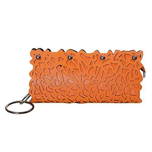 Tenflyer Fashion aushöhlen Rivet PU-Leder Metallkette Umhängetasche Handtasche Partei (orange)