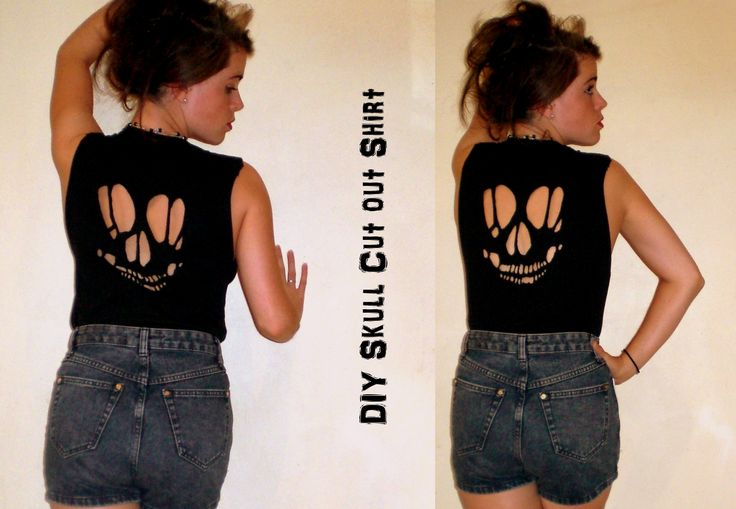 i made my own skull cut out tee shirt here 39 s how 1 print out a cut out template from the web. Black Bedroom Furniture Sets. Home Design Ideas