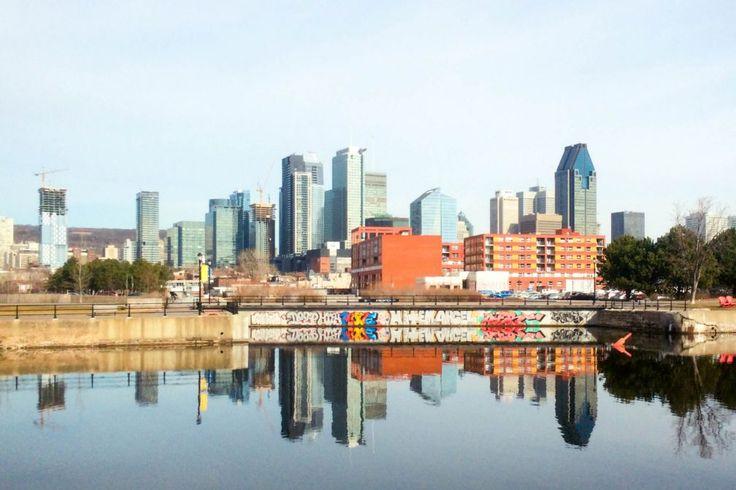 Dowtown Montréal depuis le Canal de Lachine à Griffintown © Pierre Gunther
