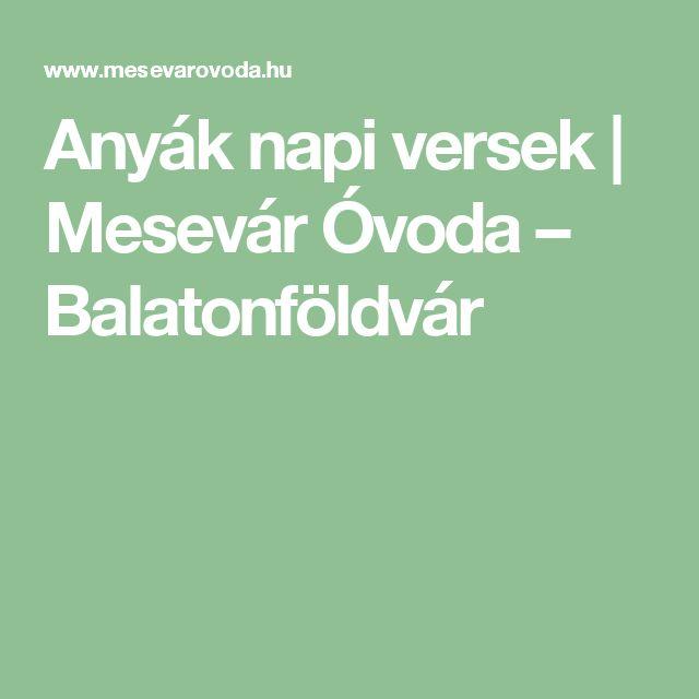 Anyák napi versek   Mesevár Óvoda – Balatonföldvár