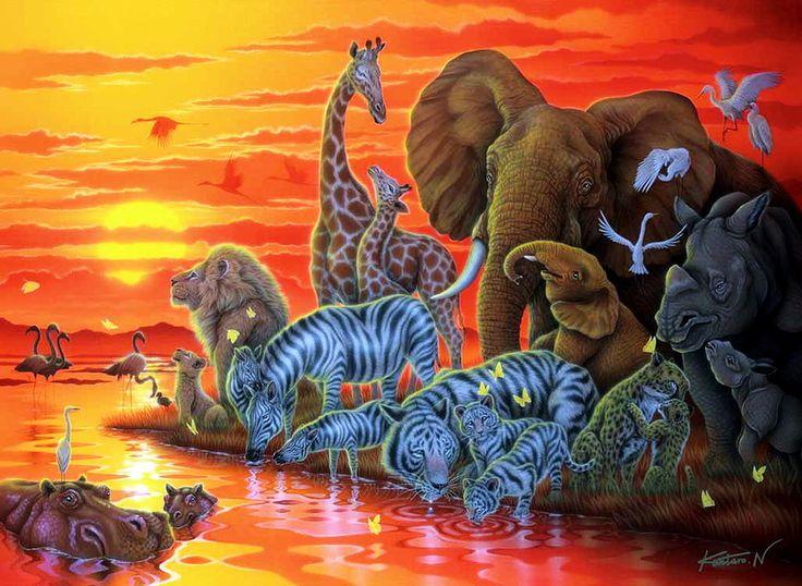 Фантастический мир дикой природы. Картины японского художника Kentaro Nishino.. Обсуждение на LiveInternet - Российский Сервис Онлайн-Дневников