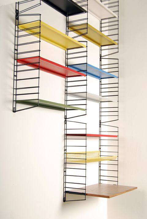 hyperventilating: Metal shelf system  by Tomado Holland  Netherlands 1950's