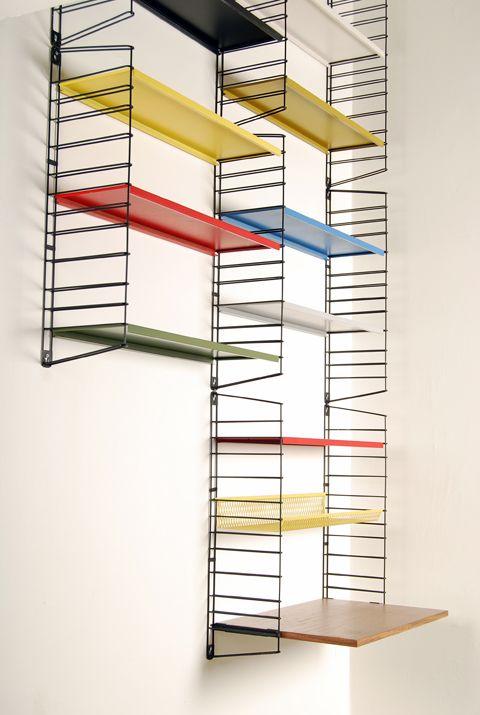 Metal shelf system   Tomado Holland   1950's