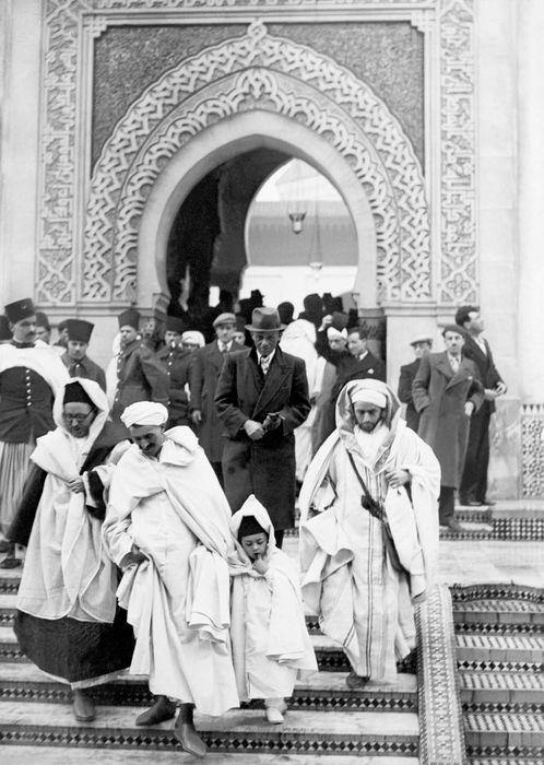 Fête de l'aïd el Kebir à la mosquée de Paris, 22 février 1937 © Keystone/Eyedea