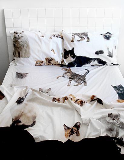 Lifesize cat DOUBLE BED sheet set