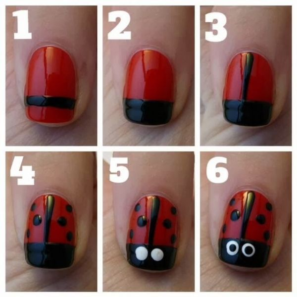 Lady Bug Nails Are Super Cute and Super Easy