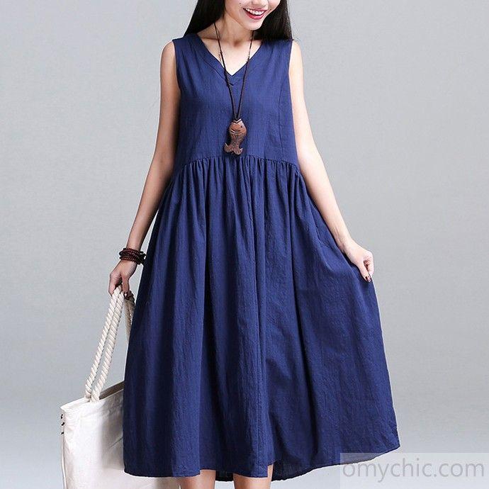 1000  images about Summer Linen Dresses on Pinterest  Cotton ...