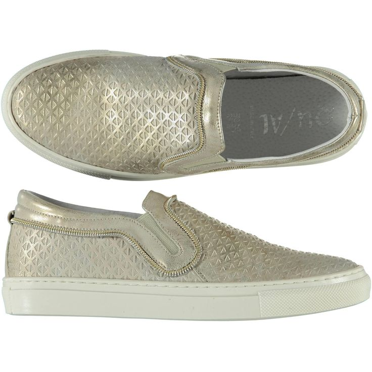 Slip-on Qu-Al con cerniera decorativa gold donna - € 74,90 scontate del 13% le paghi solo € 64,90 | Nico.it -  #nicoit #moda #fashion #ss15 #springsummer #spring #summer #fashionista #love #bestoftheday #me #outfit #lookoftheday #picoftheday #newcollection #newarrivals #slipon #shoes #sneakers