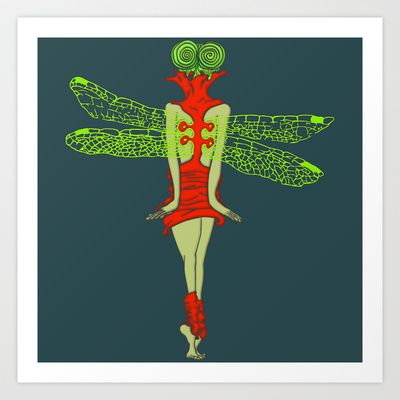 Learn to fly like a dragonfly Art Print by Brenda Castro Pelayo - $17.68