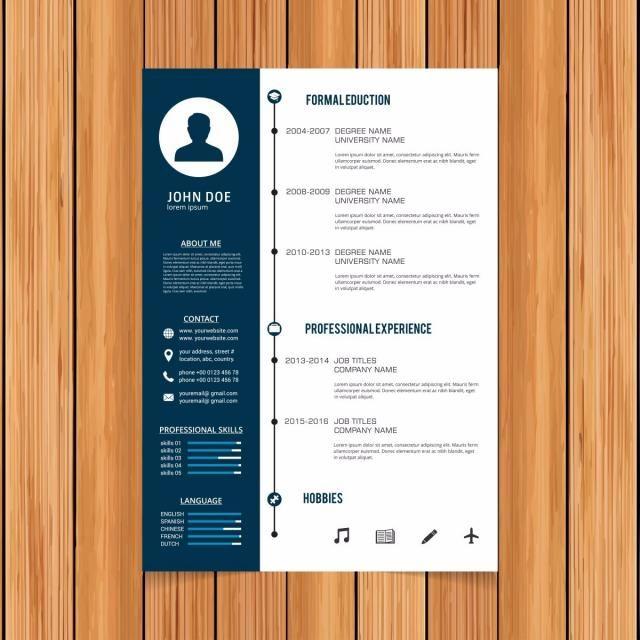 Elegant Minimalistic Modern Resume Curriculum Template Cv