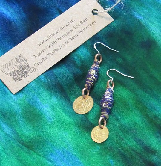 Gypsy Copper Dangle Earrings Tribal Coins Indian Jewellery