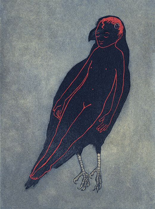 I Feel All Wrong, I Don't Understand, 2012 || Raven Girl by Audrey Niffenegger