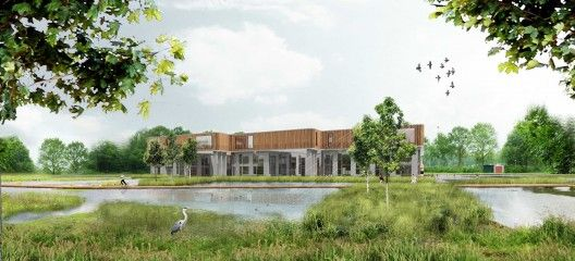 Mecanoo architecten has won the architectural selection for the new Noorderpoort regional community college in Stadskanaal, The Netherlands. More images and