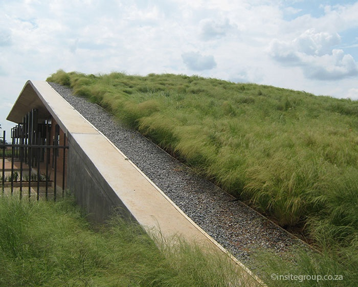 Green roof at DBSA, South Africa, by Insite landscape architects.