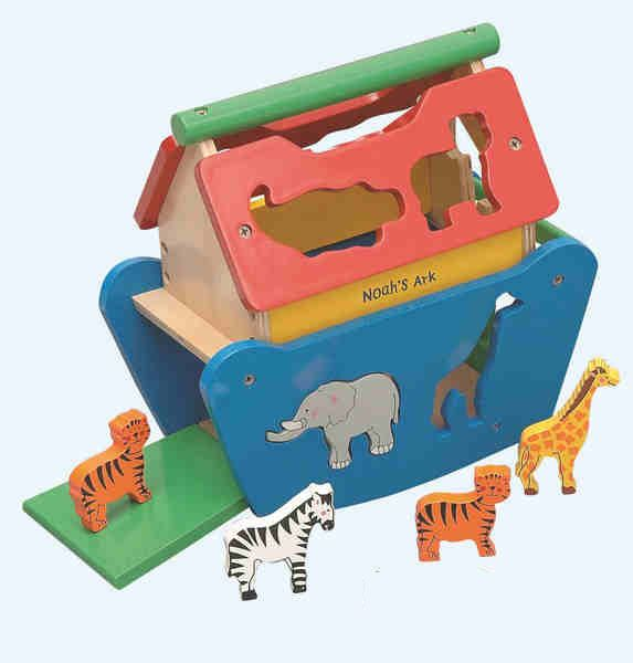 Tigris Wholesale Large Wooden Noah's Ark Toy  - Availability: in stock - Price: £29.99