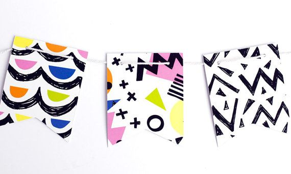 Abstract Print Paper Garland by The Chaos Club