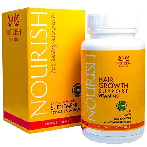 PRICE REDUCTION! Nourish Hair Growth Vitamins with Biotin and DHT Blockers- Guaranteed Improvements, Less Loss and Better Skin and Nails #hairlossbiotin