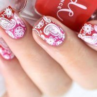 18 enigmatic paisley nails to play – #Short hairstylesDamenbob #Short hair …  …