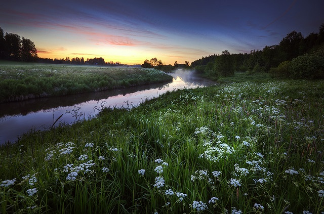 Summer night, somewhere in Finland