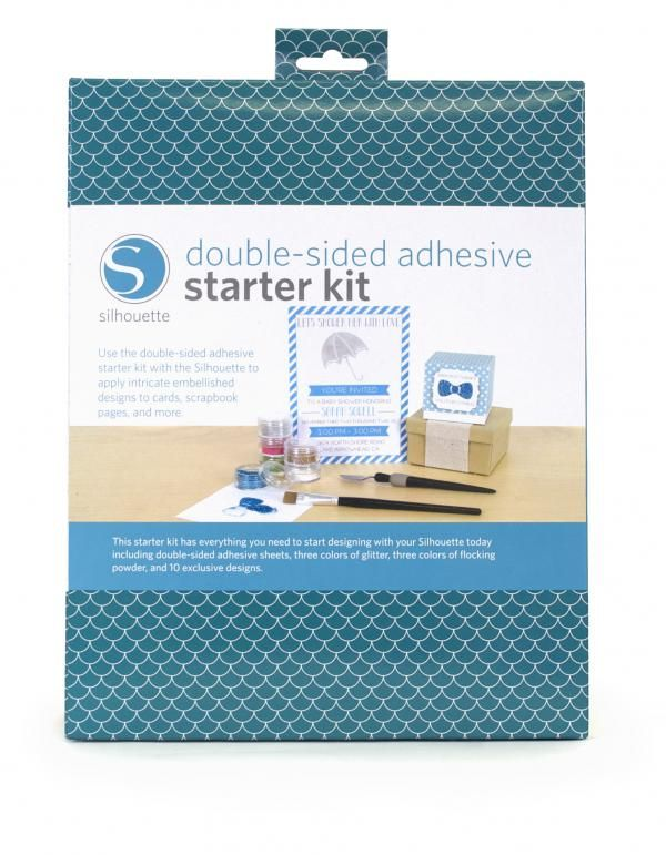 Silhouette Double Sided Starter Kit SILH-KIT-ADHESIVE Glitter