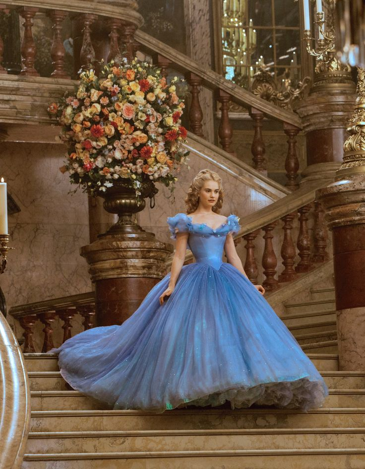 """the-garden-of-delights: """" Lily James in the title role of Cinderella (2015). [x] """""""