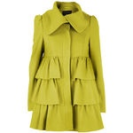 d perkins tiered coat ochre
