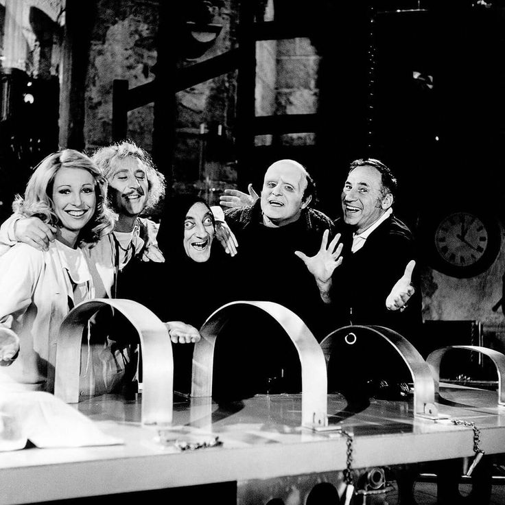 Young Frankenstein ~ Teri Garr, Gene Wilder, Marty Feldman, Peter Boyle and the great Mel Brooks!
