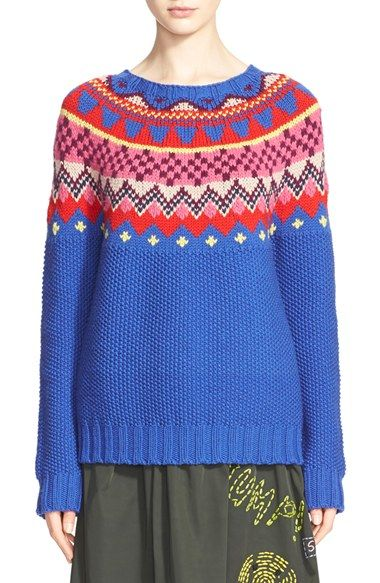 Mira Mikati Fair Isle Wool Sweater available at #Nordstrom