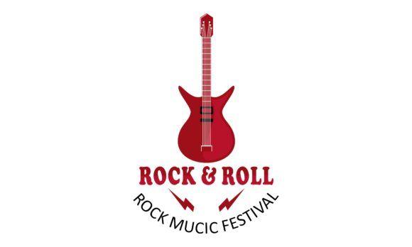 Acoustic Guitar Electric Guitar Design Graphic By Deemka Studio Creative Fabrica Electric Guitar Design Guitar Design Logo Templates