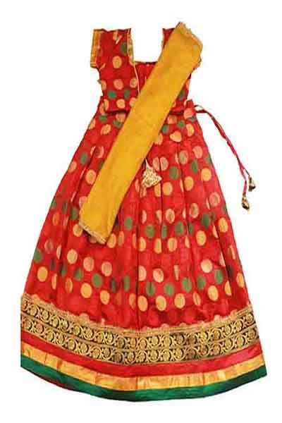 Kids girls traditional half saree for 9 years - Rs 1200 - Free shipping all over India - http://www.princenprincess.in/index.php/home/product/203/Big%20butta%20half%20saree