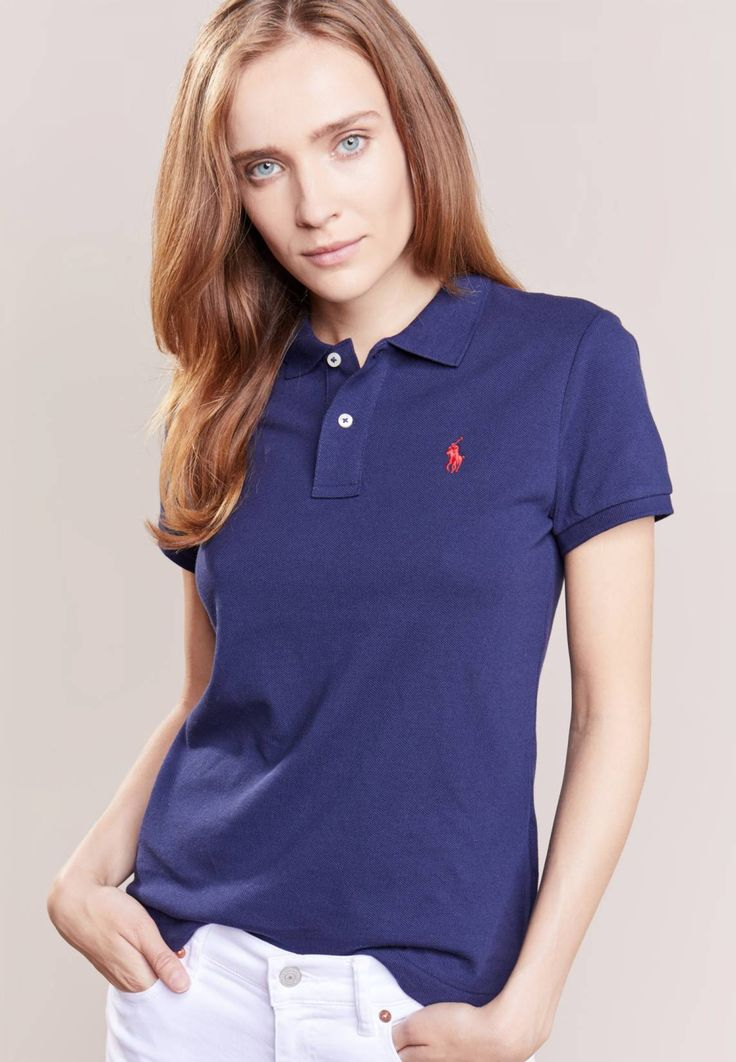 """Polo Ralph Lauren. SKINNY FIT - Polo shirt - newport navy. Fit:small. Outer fabric material:100% cotton. Our model's height:Our model is 70.0 """" tall and is wearing size S. Pattern:plain. Care instructions:machine wash at 30°C,Machine wash on gentle cycle. ..."""