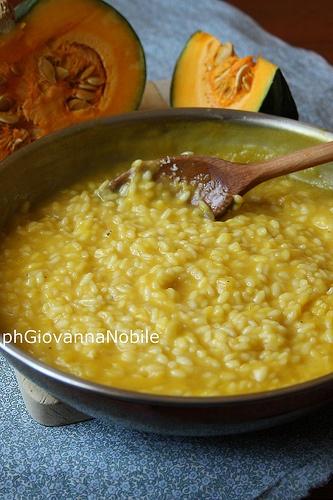 Risotto alla zucca, parmigiano reggiano e aceto balsamico tradizionale