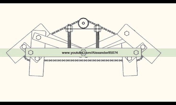Six leg kinematic moving machine (AutoCAD Version) - Mechanical Engineering Project
