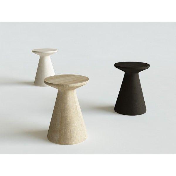 PIENIEK stołek stolik toczony dębowy - Iwona Kosicka Design