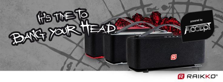 HEAVY METAL Bluetooth® Vacuum Speaker powered by ACCEPT