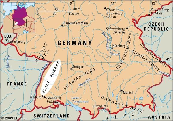 Black Forest: location map ...