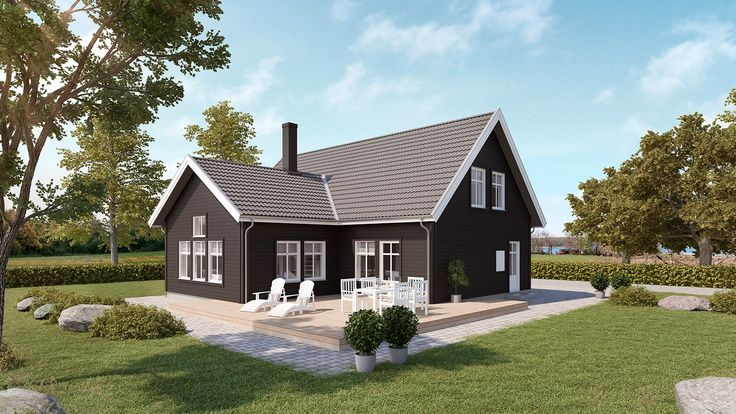 MOVE #201 är ett 1 1/2–planhus med klassisk utformning. Två sovrum på entréplan för att bo med ett barn och inreda vinden senare. Ett flexibelt hus med smart planlösning!