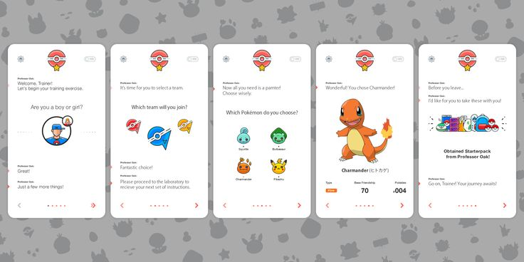 Pokemon App concept I designed for practice (Found on my old hard drive).