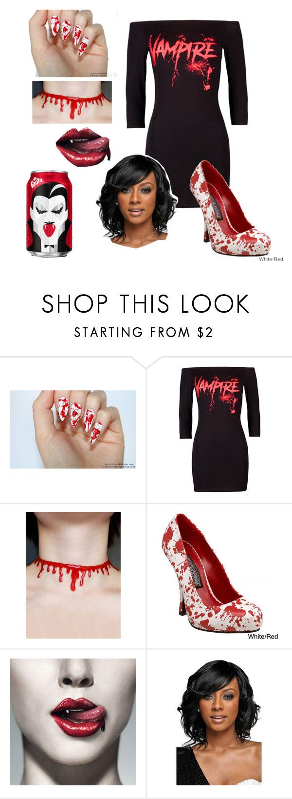 """""""Modern Vampire"""" by streberka ❤ liked on Polyvore featuring Funtasma, WithChic and modern"""