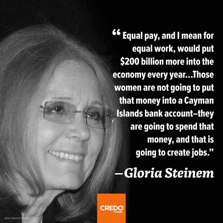 Thank you Gloria for all the trails you've blazed